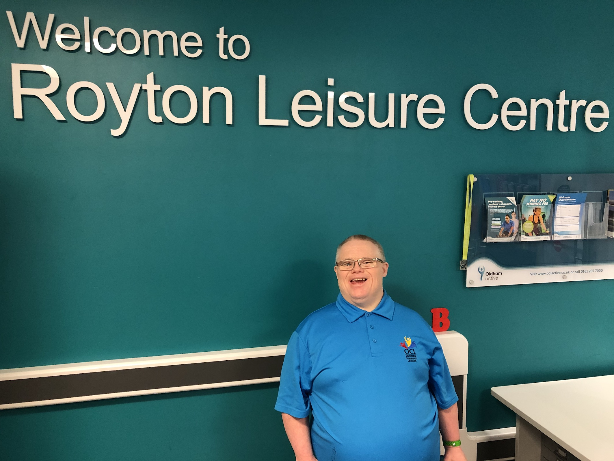 John Carhart at Royton Leisure Centre